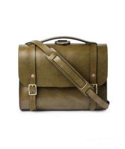 Túi xách da bò thật màu Olive Harness