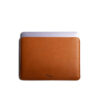 Bao da Macbook Slim Leather Sleeve case da thật nâu vàng bò PKDDBDMAC0001-VB