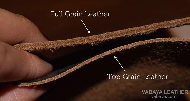 Full grain and top grain