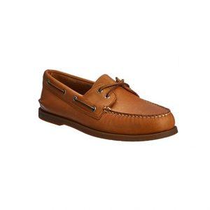 Giày lười nam kiểu Boat Shoes viền chỉ nổi nâu GDNGLN0002-VB