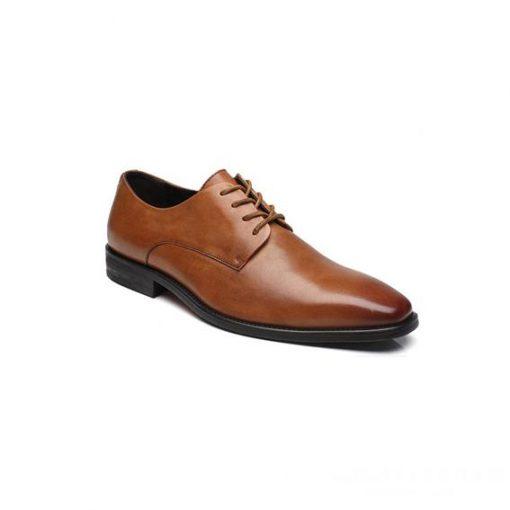 Giày tây nam kiểu buộc dây nâu phối màu GDNGTN0001-VB