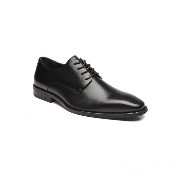 Giày tây nam kiểu buộc dây đen GDNGTN0011-VB