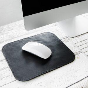 Miếng Lót Chuột Da Thật (Leather mousepad) đen PKDDMLCDT0003-VB