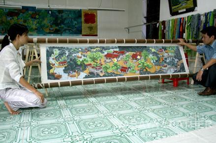 Làng nghề thêu ren Văn Lâm, Ninh Bình