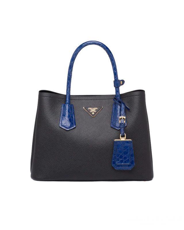 Túi xách tay Prada được làm từ da Saffiano