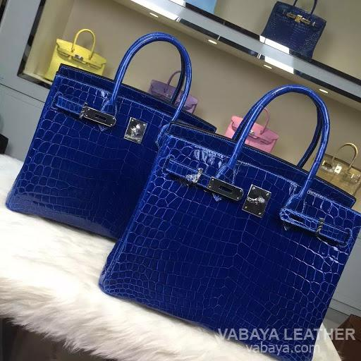 Blue Crocodile Hermes Birkin Handbag