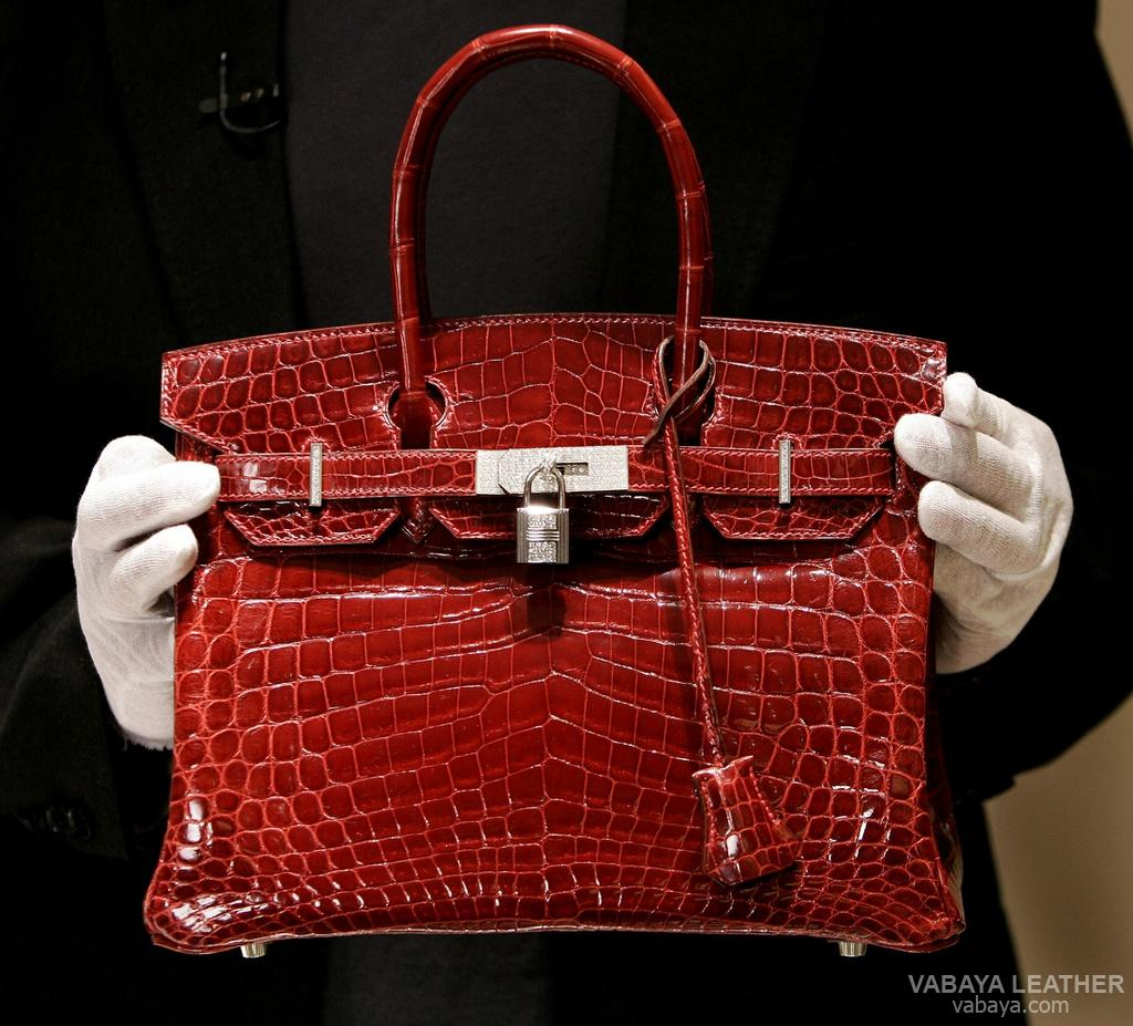 Hermes Exceptional Collection Shiny Rouge H Porosus Crocodile Birkin Bag