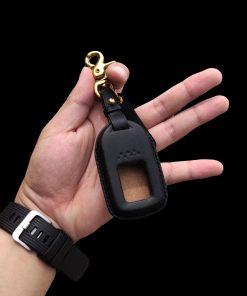 Bao da chìa khóa handmade Honda CR-V da vegtan đen