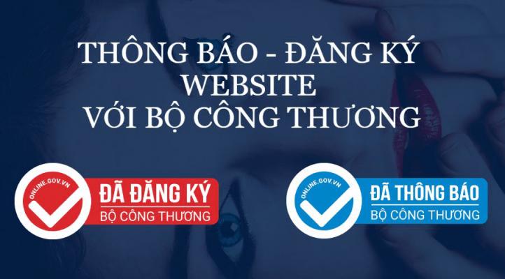 Đăng ký và thông báo website với bộ công thương
