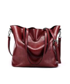 Túi xách nữ handmade da Vachetta đỏ sẫm