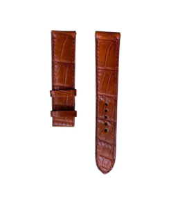 Dây da đồng hồ ALLIGATOR02 - Da cá sấu - Brown Color