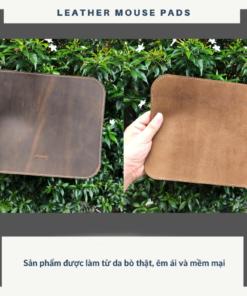 Miếng Lót Chuột Da Thật (Leather mousepad) đen PKDDMLCDT0004-VB